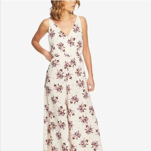 1.STATE Floral Wide Leg Jumpsuit
